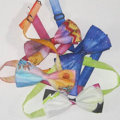 hand painted silk bowties
