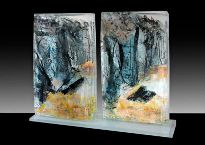 Glacial Collapse (diptych)