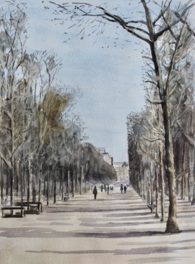 A Walk in The Tuileries Gardens, Paris