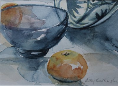 Oranges and Glass Bowl